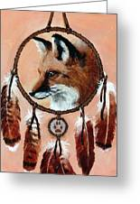 Fox Medicine Wheel Greeting Card by Brandy Woods