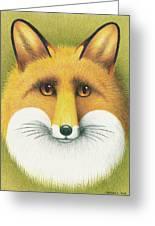 Fox Portrait Greeting Card