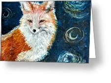 Fox Red  Painting  Greeting Card
