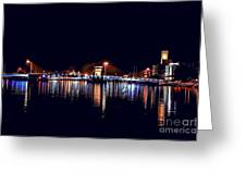 Fox River Green Bay At Night Greeting Card