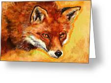 Fox Spirit - Kitsune Greeting Card by Lakota Phillips