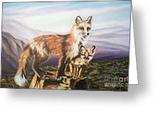 Foxes   Fundamental Foresight Foundation  Greeting Card