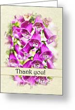 Foxglove Flowers Thank You Card Greeting Card
