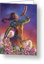 Foxglove - Summon Your Courage Greeting Card by Anne Wertheim