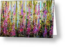 Foxgloves Large Painting Greeting Card