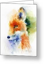 Foxy Impression Greeting Card