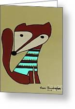 Foxy Moxy Greeting Card