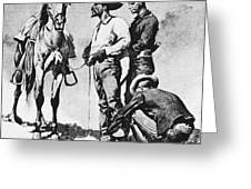 Fr 043 Third Cavalry Trooper Searching A Suspected Revolutionist Fredericremington Sqs Frederick Remington Greeting Card