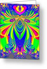 Fractal 31 Psychedelic Love Explosion Greeting Card