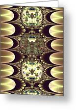 Fractal 42 Cameos In Gold And Ivory Greeting Card