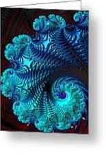 Fractal Art - Blue Wave Greeting Card