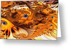 Fractal Citrus Greeting Card