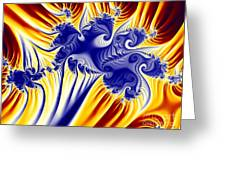 Fractal Fireworks Greeting Card