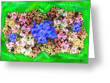 Fractal Flower Garden Greeting Card