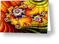 Fractal Furrows Greeting Card