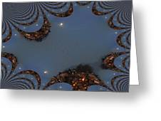 Fractal Moon Greeting Card