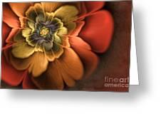 Fractal Pansy Greeting Card by John Edwards