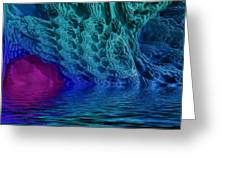Fractal Reflections Greeting Card