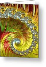 Fractal Spiral Three Greeting Card