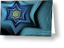 Fractal Star Greeting Card by John Edwards