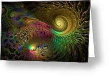 Fractal Swirls Greeting Card