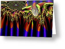 Fractal Torch Greeting Card