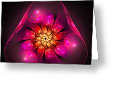 Fractal Triangle Pink Red Yellow Greeting Card