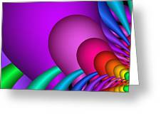 Fractalized Colors -1- Greeting Card