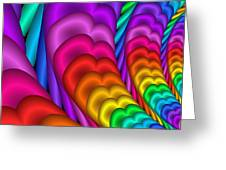 Fractalized Colors -10- Greeting Card