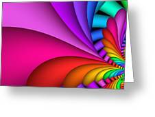 Fractalized Colors -2- Greeting Card