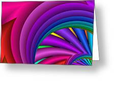 Fractalized Colors -3- Greeting Card