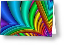 Fractalized Colors -4- Greeting Card
