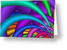 Fractalized Colors -6- Greeting Card by Issabild -