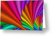 Fractalized Colors -7- Greeting Card