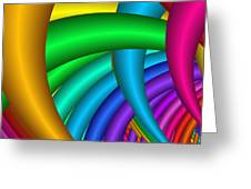 Fractalized Colors -9- Greeting Card