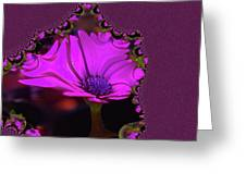 Fractual Flower  Greeting Card