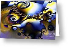 Fractured Fractal Spirals  Greeting Card