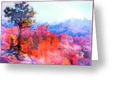 Fractured Landscape Greeting Card