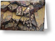 Fractured Layers Greeting Card