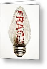 Fragile Light Bulb Greeting Card