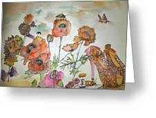 Fragrance  Of Garden Album Greeting Card