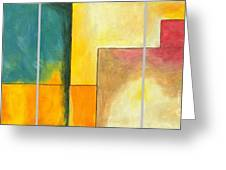 Framed - Contemporary Modern Abstract Art Painting  Greeting Card
