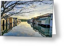 Framed Boathouses Greeting Card