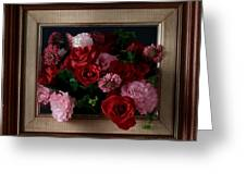 Framed Bouquet Of Flowers Greeting Card
