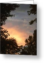 Framed Fire In The Sky Greeting Card