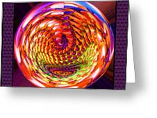 Framed Glass Spiral Greeting Card