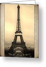 Framed In Paris  Greeting Card