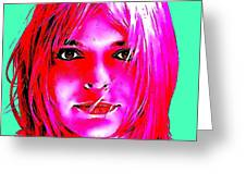 France Gall Greeting Card