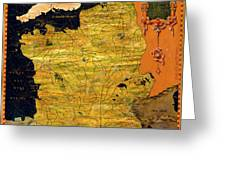 France Map Greeting Card