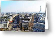 France Montmartre Paris Greeting Card